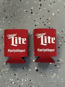 Miller Lite At The Post Saratoga Race Course Souvenir Red  Beer Coozie Set Of 2