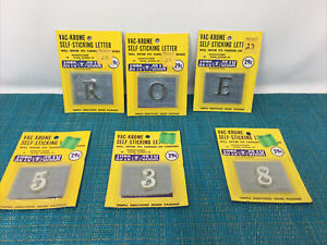 VINTAGE VAC-KROME SLEF STICKING LETTERS/NUMBERS AUTO-GRAM STILL IN PACK NEW