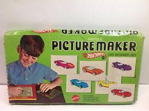 Vintage 1969 Mattel's Hot Wheels Picture Maker Car Designer Set Mattel #4150