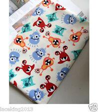 """1y Waterproof 100% cotton fabric waxed 110cm(43"""") wide Monster sh laceking2013"""