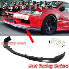 Ralliart Style Front Bumper Lip (Urethane) Fits 06-07 Mitsubishi EVO 9