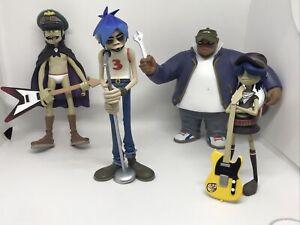 Gorillaz Kidrobot Figures, Set of 4, Displayed but In Good Condition!