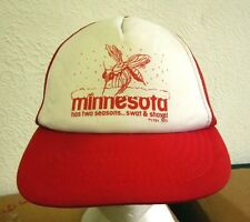 MINNESOTA HAS TWO SEASONS trucker cap Swat & Shovel humor hat 1980s