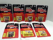 Set of 7 1997 Nascar Racing Champions Die Cast 1:144 Scale Cars,cards & Stand