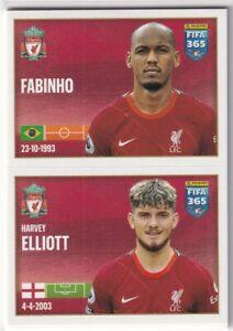 Panini Fifa 365 2022 Sticker No. 56 Fabinho/Harvey Elliott