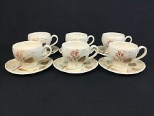 Red Wing Pottery Random Harvest SIX Cups and Saucers