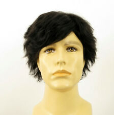 Short Wig For Men Natural Hair black Ref REMY 1B