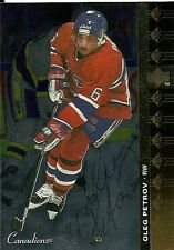 Oleg Petrov Montreal Canadiens PERSONALLY AUTOGRAPHED card