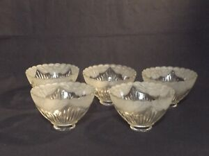 Clear glass shades frosted floral design chandelier sconces 2 1/4 fitter set of