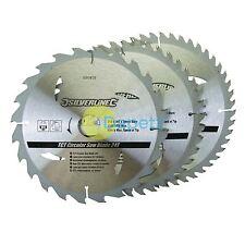 """Qualité 3 x 210 mm (8 1/4"""") TCT lames de scie circulaire 24 40 48 Dents 3pk 30 mm alésage"""