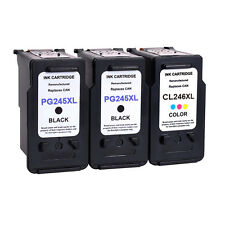 3 PK Black Color Ink Cartridge For Canon PG-245XL CL-246XL PIXMA MG2520 MG2920