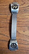 with 14K Gold Overlay Navajo Silver Watch Band