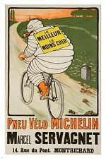 vintage french poster MICHELIN TIRES marcel-servagnet CLASSIC SPORTY 24X36
