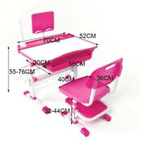 Height Adjustable Kids Desk And Chair Set Ergonomic School Study/Drawing Desk