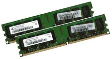 2x 2gb 4gb RAM PC memoria ddr2 667 MHz pc2-5300u F. Intel + AMD low density DIMM