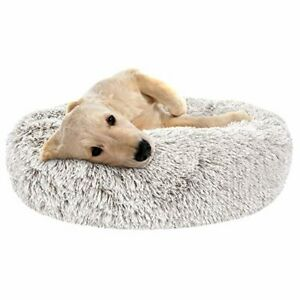 SHU UFANRO Dog Beds for Large Medium Small Dogs Round, Cat Cushion Bed, Calming
