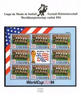 St. Vincent & The Grenadines, Scott 2065 mini-sheet, 1994 World Cup German team