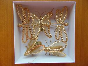Christmas Insect hanging decorations 5 pieces