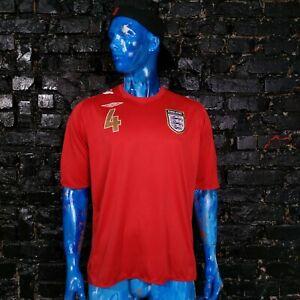 Gerrard England Team Jersey Away shirt 2006 - 2008 Red Umbro Mens Size XXL
