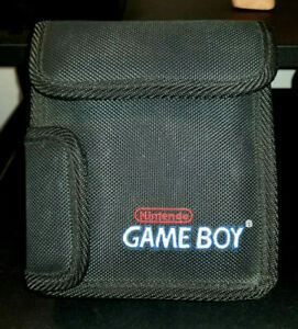 Nintendo Game Boy Black Carrying Case with Red & White Logo Fabric Storage