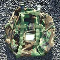 US Military MOLLE Sleeping Bag Compression Carrier Woodland Camo 2-Strap