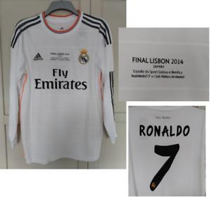 Real Madrid Home Shirt 2013 2014 CHAMPIONS LEAGUE FINAL RONALDO LONG SLEEVE