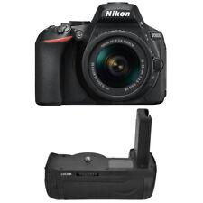 Nikon D5600 DSLR Camera + Nikkor 18-55mm VR AF-P Zoom Lens +Battery Grip Kit New