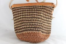 Shoulder Handbag Gorgeous Small Natural African Sisal Leather 116 Free Postage