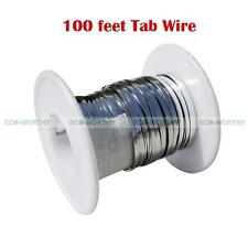 100 Ft Solar Panel Cell Tabbing Wire Solder Covered for Solar Cell Panel DIY