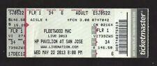 Fleetwood Mac Concert Ticket Stub Hp Pavilion at San Jose May 22, 2013