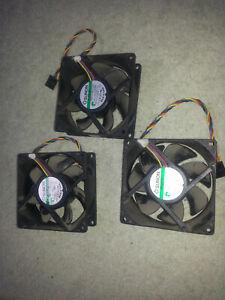Lot de 3 ventilateurs 90mm x 90mm SUNON PSD1209PLV2-A 12v 0.35a 4.2w *OCCASION*