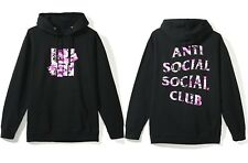 35ef30bb8731 Auth Anti Social Social Club x Undefeated ASSC Camo Black Hoodie sz M IN  HAND
