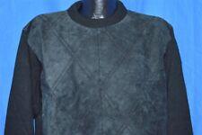 vintage 90s Protege Collection Acrylic Suede Front Black Hip Hop Sweater Large L