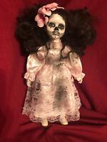 OOAK DOD Flower Girl Creepy Horror Doll Art by Christie Creepydolls