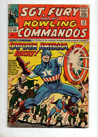 Sgt. Fury #13 CAPTAIN AMERICA CROSSOVER 1964 VG 4.0 KEY Marvel World War 2 Book!