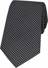 David Van Hagen Mens Pin Dot Silk Tie - Black