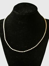 """14kt Yellow Gold 18"""" 2mm Omega Chain Necklace 8.5 Grams"""