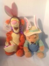 Tigger and Winnie Pooh Stuffed Animals Easter Bunnies NEW Original By POOH Work
