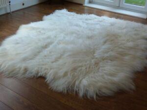 Best Quality Sexto Natural Ivory White Icelandic Sheepskin Rug 6 Skins