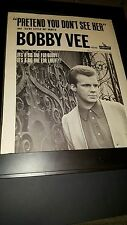 Bobby Vee Pretend You Don't See Her Rare Original Promo Poster Ad Framed!