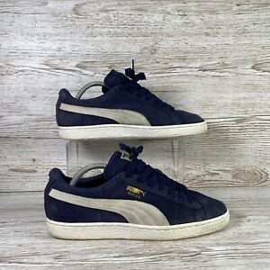 Mens Puma Suede Classic+ 356568-51 Peacoat/White Blue White Shoes Size UK 9