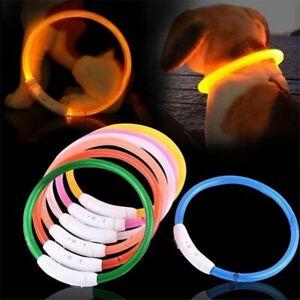 LED USB Dog Collar Rechargeable LED Night Safety Pets Dog Collars Tube Flashing
