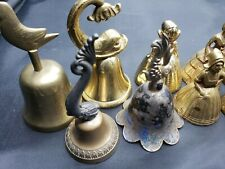 Lot Of 11 Vintage Bells, Fish, Women, Bird and Angels, Brass and Other Metals 00004000