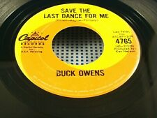 BUCK OWENS - Save The Last Dance  For Me / King Of Fools - 1962 VG+ Canada 45