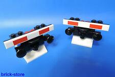 LEGO FERROVIA Fermata di Tampone nr. 6 / nero con tampone / 2 pezzi