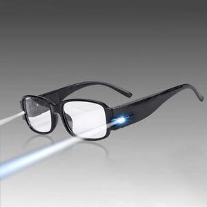 1 Stk Multifunktionale Lesebrille Lesehilfe Brille Nachtbrille mit LED Leselicht