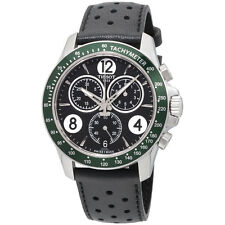 New Tissot V8 GTS Chronograph Black Dial Leather Strap Mens Watch T1064171605700