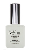 Pure Ice Nail Polish HIGH SHINE Top Coat Made in USA Quick Drying FREE SHIPPING