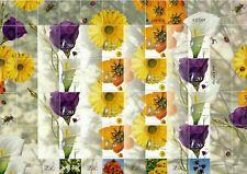 ISRAEL 2001 FLORA FLOWERS SHEET MNH