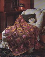 Crochet Pattern ~ POPCORN GRANNY AFGHAN ~ Instructions